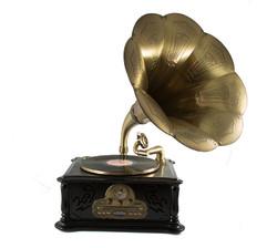 """Музык. центр-ретро """"Граммофон"""" с пультом: винил, AM/FM, CD, MP3, USB, SD 39*45*85см (уп.1/1шт.) A+B"""
