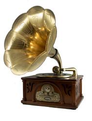 """Музыкальный центр-ретро """"Граммофон"""" с пультом: винил, AM/FM, CD, MP3, USB, SD (уп.1/1шт.) A+B"""