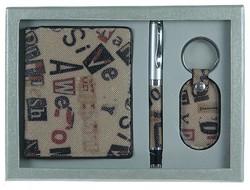 Подарочный набор: бумажник, ручка, брелок 21*16*4см (уп.1/60наб.)