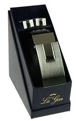 """Подарочный набор """"LA GEER"""": запонки, ремень 13*6*13см (уп.1/10/50наб.)"""