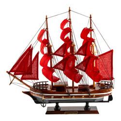 """Модель корабля """"Алые паруса"""" 33*7*32см (уп.1/18шт)"""