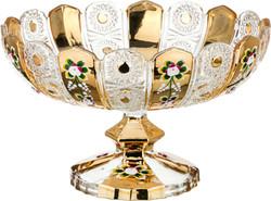 "ФРУКТОВНИЦА НА НОЖКЕ ""LEFARD GOLD GLASS"" ДИАМЕТР=30 СМ ВЫСОТА=19 СМ (КОР=4ШТ.)"
