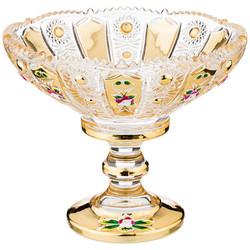 """КОНФЕТНИЦА """"LEFARD GOLD GLASS"""" 14*14 СМ. ВЫСОТА=12 СМ. (КОР=24ШТ.)"""