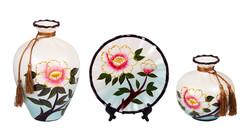 Подарочный набор: тарелка декор. 21см, ваза 20см, ваза 25см (уп.1/4наб.)