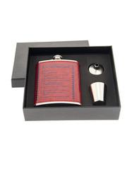 """Подарочный набор """"10 алкогольных заповедей"""": фляжка 230 мл, воронка, стопка (уп.1/48наб.)"""