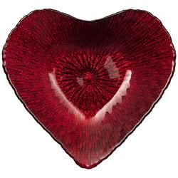 "БЛЮДО ""HEART"" RED SHINY 16х15х3 СМ БЕЗ УПАКОВКИ (МАЛ 24ШТ)"