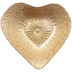 "БЛЮДО ""HEART"" GOLD SHINY 16х15х3СМ БЕЗ УПАКОВКИ (МАЛ 24ШТ)"