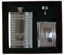 """Подарочный набор """"VIRON"""": фляжка 230мл, воронка, портсигар 21*18*5см (уп.1/36наб.)"""