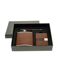 Подарочный набор: фляжка 175мл, визитница, ручка (уп.1/48наб.)