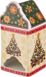 """БАНКА ДЛЯ ЧАЙНЫХ ПАКЕТИКОВ """"CHRISTMAS COLLECTION"""" 9*9 СМ. ВЫСОТА=18 СМ. (КОР=24ШТ.)"""