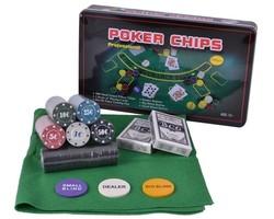 Игра настольная Покер в метал. кор, (уп.1/12шт.)