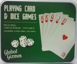"""Подарочный набор """"Покер"""": набор игральных карт, кости (уп.1/24наб.)"""