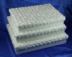 Комплект коробок из 3-х шт. (прямоуг. плоский) 42*32*8см (уп.1/8комп.)