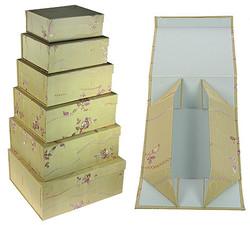 Комплект коробок из 6шт. (тафта с вышивкой) 35*31*15см (уп.1/6комп.)