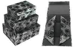 Комплект коробок из 3шт. (тафта с флоком) 31*25*13см (уп.1/8комп.)