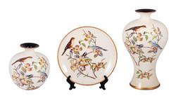 Подарочный набор: тарелка декор. 26см, ваза 26см, ваза 34см (уп.1/2наб.)