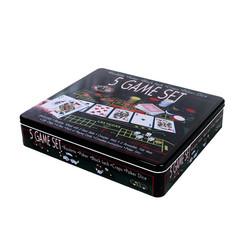 Игра настольная Покер в метал.кор. (уп.1/8шт.)