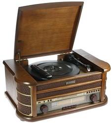 Музыкальный центр-ретро. Функции: винил, AM/FM, CD, аудио, USB 50*35*22см (уп.1/1шт.)