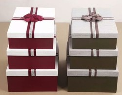 Комплект коробок из 3шт. (прямоуг с лентой) 39*28*14см (уп.2/12компл.) А,В