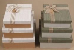 Комплект коробок из 3шт. (прямоуг с лентой) 27*27*12см (уп.2/16компл.) А,В
