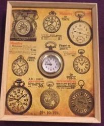Часы коллаж настенные 28*22*4см (уп.1/12шт.)