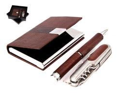 Подарочный набор: визитница, ручка, нож складной (уп.1/48наб.)