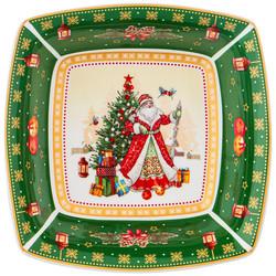 "САЛАТНИК ""CHRISTMAS COLLECTION"" 15,5Х15,5Х5 СМ. (КОР=48ШТ.)"