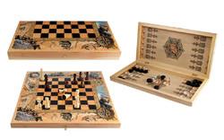 Набор игр: шахматы, шашки, нарды 50*25см (уп.1/1наб.)