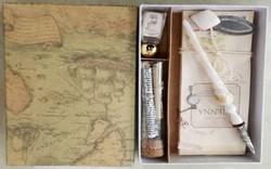 Подарочный набор для письма: перьевая ручка, закладка, блокнот, чернилами 19*13*2см (уп.148наб.)