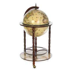 """Глобус-бар """"BRIGANT"""" напольный, цвет орех 50*50*90см, """"Сокровища древнего мира"""", d=42см  (уп.1/1шт.)"""