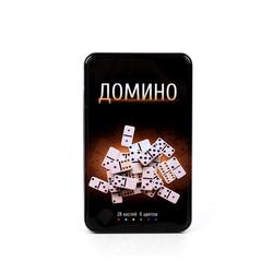 Игра настольная Домино в метал. кор. 9*12*3см (уп.1/24шт.)