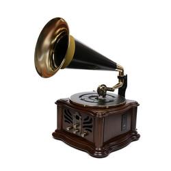 Музыкальный центр-ретро BRIGANT с пультом: FM, CD, MP3, USB,  Bluetooth, USB, винил (уп.1/1шт.)