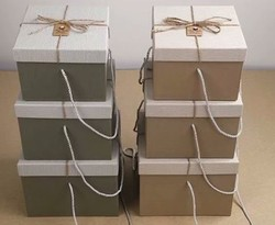 Комплект коробок из 3шт. (квадр. с лентой) 24*24*18см (уп.2/18компл.) А,В