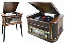 Музыкальный центр-ретро: винил, AM/FM, USB/SD, кассета 50*34*67см (уп.1/1шт.) A,B