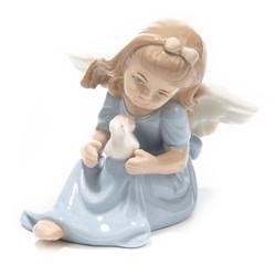 Фигурка декоративная Ангел 10*9*9см (уп.1/72шт.) без выбора цвета микс
