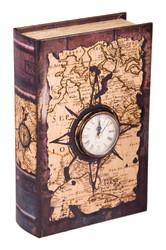 Шкатулка-фолиант с часами 18*7*27см (уп.1/6шт.)