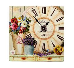 """Часы """"Летние цветы"""" 40*40см (уп.1/12шт.)"""