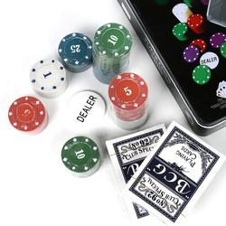Игра настольная Покер в метал. кор. 20*20*6см (уп.1/18шт.)