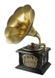 """Музыкальный центр-ретро """"Граммофон"""" с пультом: винил, AM/FM, CD, MP3, USB 35*40*85см (уп.1/1шт.) A+B"""