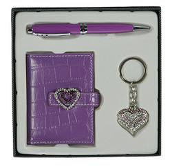 Подарочный набор: ручка, визитница, брелок 16*16*3см (уп.1/40наб.)