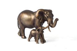 """Фигура декоративная """"Слоны-мама и малыш"""" 30*13*18см (уп.1/6шт.)"""