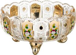 """КОНФЕТНИЦА """"LEFARD GOLD GLASS"""" ДИАМЕТР = 22 СМ, ВЫСОТА = 12 СМ (КОР=6ШТ.)"""