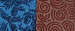 """Бумага упаковочная МИКС """"Handmade""""  КОРИЧНЕВЫЙ/СИНИЙ 100*70см (уп.10/170л.)"""