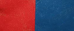 """Бумага упаковочная МИКС """"Handmade""""  СИНИЙ/КРАСНЫЙ 100*70см (уп.10/200л.)"""
