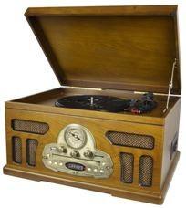 Музыкальный центр-ретро с пультом: AM/FM, CD, MP3, USB, SD (уп.1/1шт.)