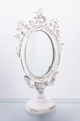 """Зеркало настольное """"Белоснежные узоры"""" 16*10*32см (уп.1/8шт.)"""
