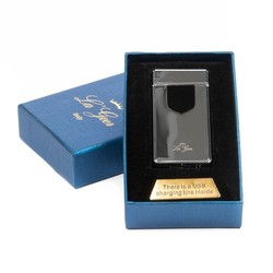 Зажигалка LA GEER 7*4см электроимпульсная USB (уп.1/100шт.)