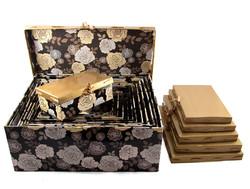 """Комплект коробок из 16шт. """"Чайная роза"""" (прямоуг. с лентой) 42*34*17см (уп.1/2комп.)"""