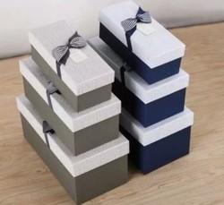 Комплект коробок из 3шт. (прямоуг с лентой) 30*15*14см (уп.2/24компл.) А,В