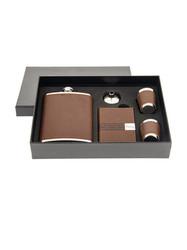 Подарочный набор: фляжка 230мл, визитница, 2 стаканчика, воронка (уп.1/48наб.)
